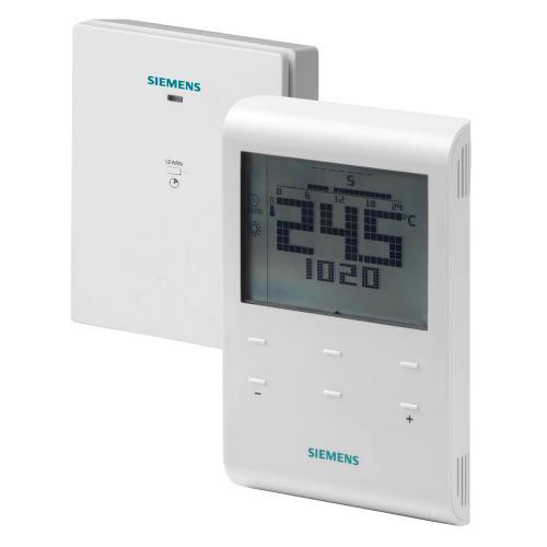 SIEMENS - Безжичен стаен термостат с LCD дислей и седмичен таймер в комплект с ресивер захранване на термостата 3V /ресивера 230V RDE100.