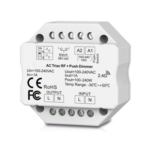 ULTRALUX - SDTD RF TRIAC, PUSH димер за конзола 220W, 1A, 220-240V AC