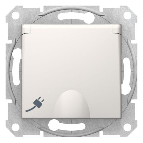 SCHNEIDER ELECTRIC - SDN3100123 Контакт с капак с детска защита Sedna, 16А, крем