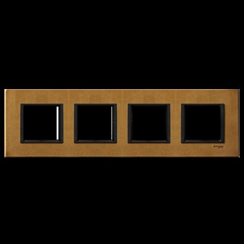 SCHNEIDER ELECTRIC - MGU68.008.7P1 декоративна рамка четворна кожа сахара Unica Class