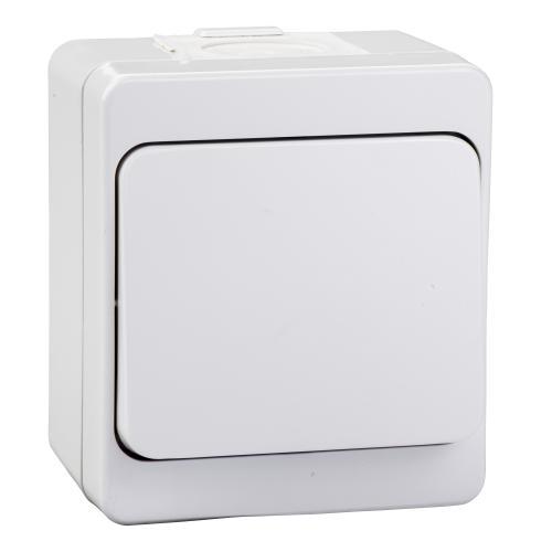 SCHNEIDER ELECTRIC - NML0100121 Еднополюсен ключ 10A за открит монтаж Nemliyer бял