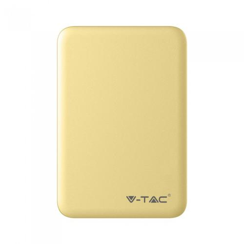 V-TAC - SKU:8196 VT-3503 5000mah POWER BANK-YELLOW