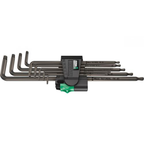 WERA - Комплект шестограми за TORX 967 XL PKL/9 BlackLaser 05024460001