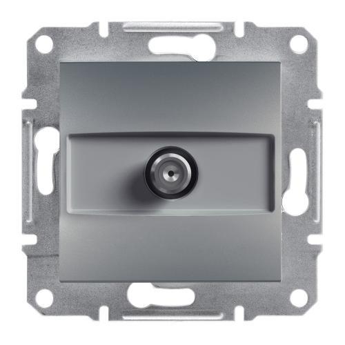 SCHNEIDER ELECTRIC - SAT розетка крайна 1dB стомана Asfora EPH3700162