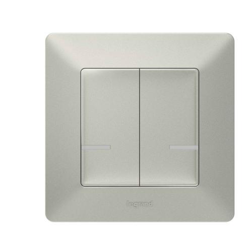 LEGRAND - Свързан сериен ключ безжичен Netatmo 752387 Valena Life алуминий