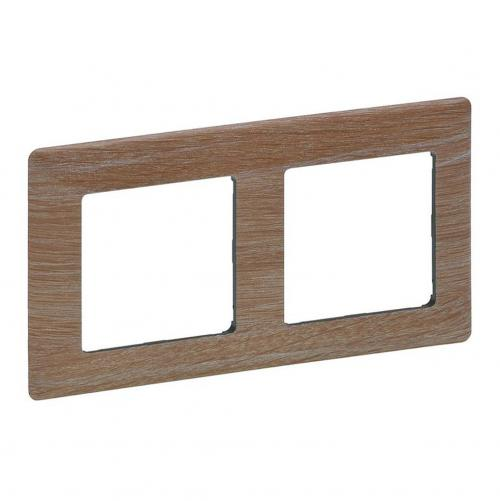 LEGRAND - 7 541 82 Plate Valena Life - 2 gang - light wood