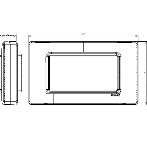 VIMAR - 14944 - Plana рамка влагозащитена IP55 4M сиво RAL 7035