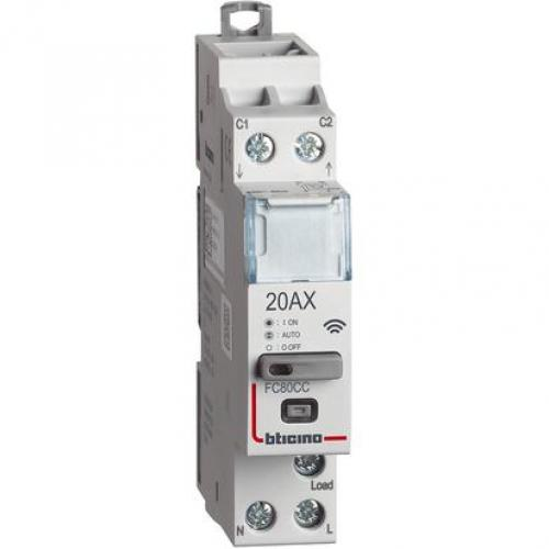 BTICINO - Контактор Smart 20А за DIN монтаж 1 мод., 1 NO Living Now Bticino Netatmo FC80CC