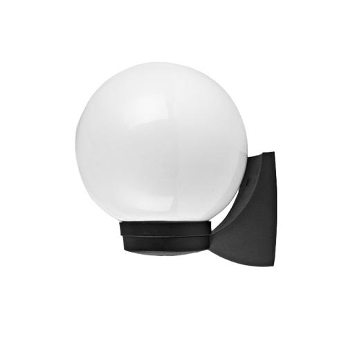 ACA LIGHTING - Градински аплик Ø200 влагозащитен черен IP44 PLGM1B