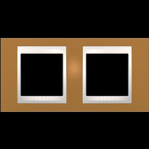 SCHNEIDER ELECTRIC - MGU6.004.569 рамка Unica Plus двойна оранж/слонова кост