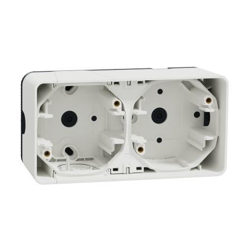 SCHNEIDER ELECTRIC - Конзола двойна хоризонтална IP55 Mureva  цвят Бял MUR39914