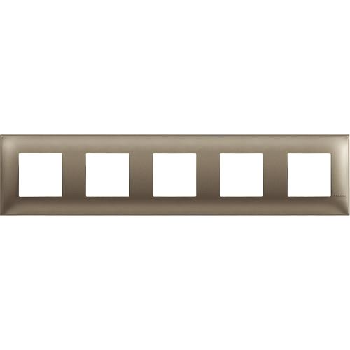 BTICINO - R4802M5TM cover plate - 2+2+2+2+2 horizontal/vertical installation modules - Titanium metal