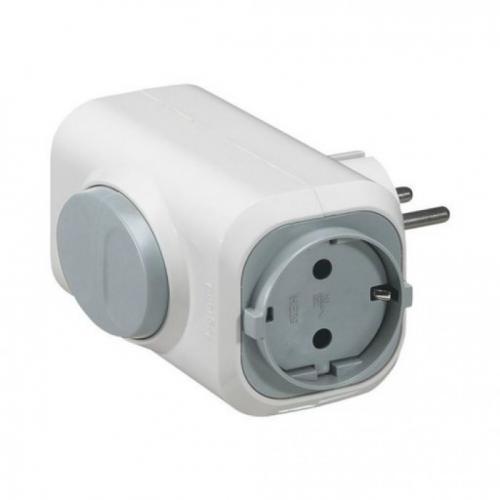 LEGRAND - 50665 Адаптер 2 гнезда с бутон за бързо вадене