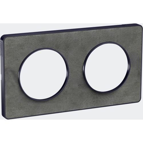 SCHNEIDER ELECTRIC - S540804V Odace Touch aluminium декоративна рамка двойна камък с външен кант в цвят антрацит