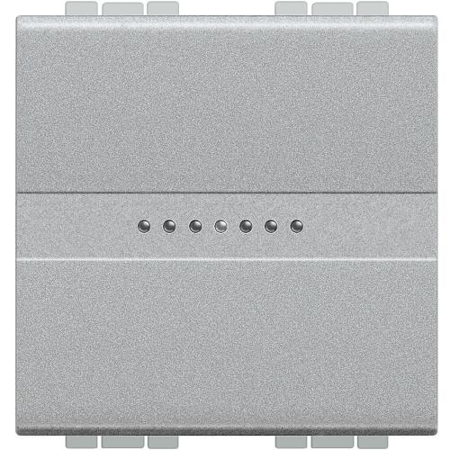BTICINO - NT4055M2N Бутон Аксиален обикновен 2 модул алуминий Livinglight