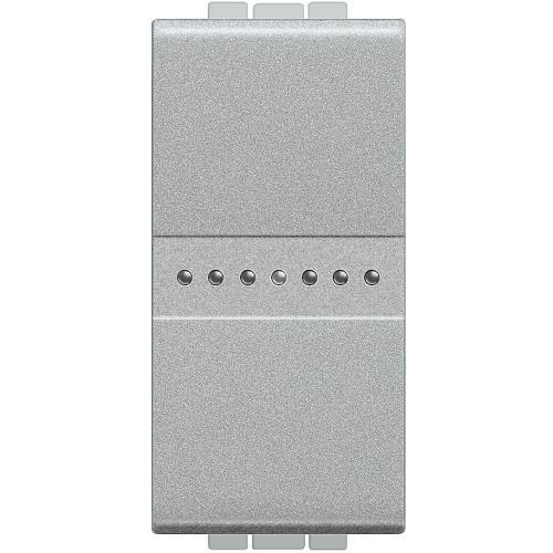 BTICINO - NT4055AN Бутон Аксиален обикновен 1 модул алуминий Livinglight