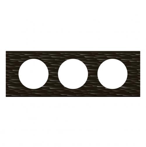 LEGRAND - Тройна рамка Celiane 69023 черен corian