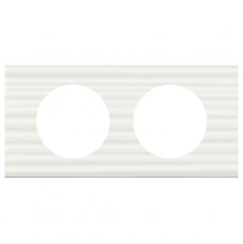 LEGRAND - Двойна рамка Celiane 69012 бял corian