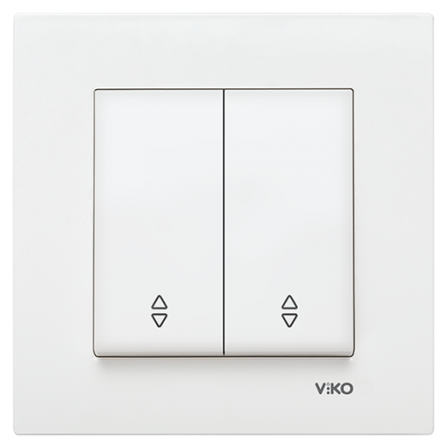 VIKO - 9096 0017 2-gang Two-way Switch Viko Karee