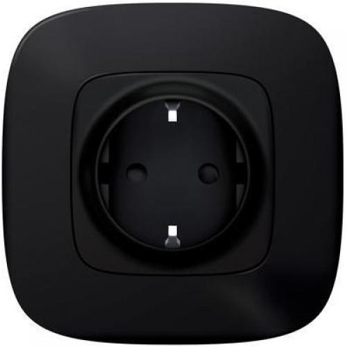 LEGRAND - Контакт шуко 16A Smart Valena Allure Черно с рамка Legrand Netatmo 752894