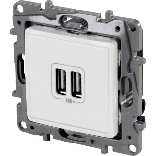 LEGRAND - 764594 Двоен USB контакт 2400mA 5V за зареждане