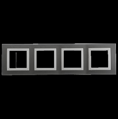 SCHNEIDER ELECTRIC - MGU2.008.858 декоративна рамка Unica Basic четворна техническо сиво