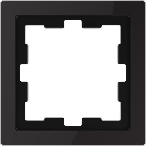 SCHNEIDER ELECTRIC - MTN4010-6503 рамка единична стъклена черен оникс D-Life glass Merten