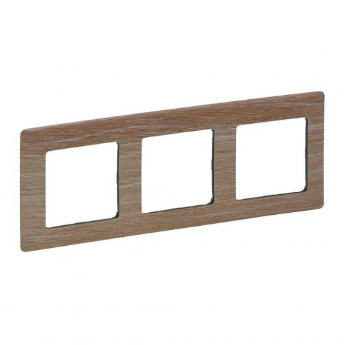 LEGRAND - 7 541 83 Plate Valena Life - 3 gang - light wood