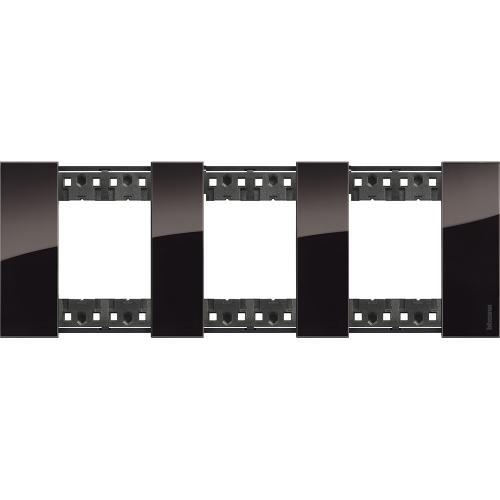 BTICINO - Рамка 3x2 мод. немски стандарт цвят Нощ Living Now Bticino KA4802M3DG