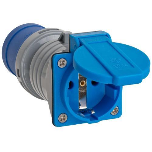 BRENNENSTUHL - Преходник, CEE 230VAC/16A 3Pin към контакт шуко, IP44, 1080990