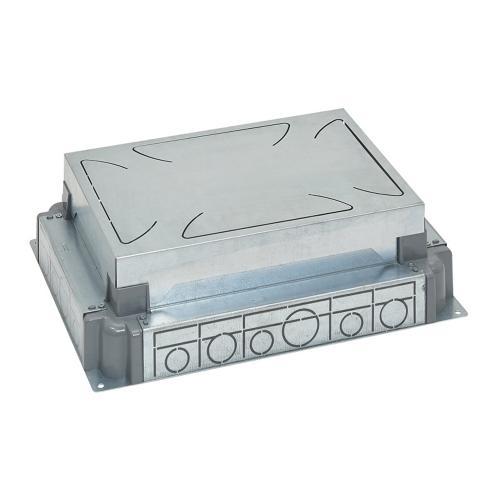 LEGRAND - Конзола за замазка от 65-90мм МЕТАЛНА за подова кутия 12 мод. хоризонтална, 8 мод. вертикална 88090