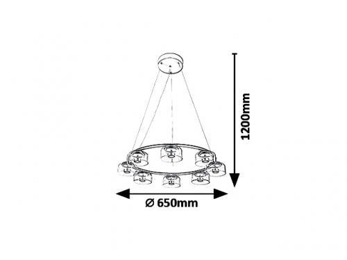 RABALUX - Пендел  LORELL  5390 LED 40W, 3200lm, 3000K