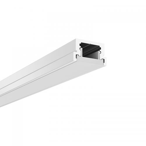 ACA LIGHTING - Алуминиев профил за лед лента за вграждане с усилен дифузер с товароносимост 500kg REZA P131