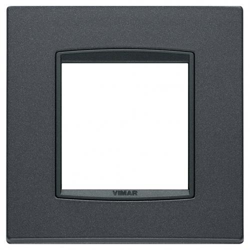 VIMAR - 20642.15 - Двумодулна рамка Classic Bright matt anthracite