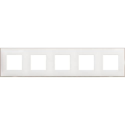 BTICINO - R4802M5WS cover plate - 2+2+2+2+2 horizontal/vertical installation modules - White satin