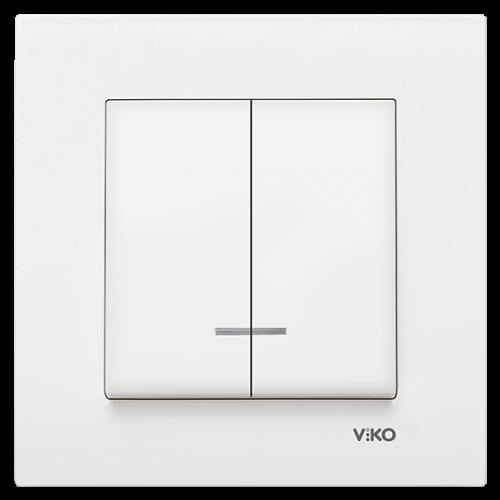 VIKO - 9096 0050 2-gang One-way Switch, Illuminated Viko Karre