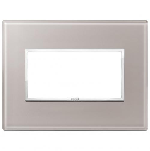VIMAR - 21654.73 Четиримодулна рамка crystal pearl grey