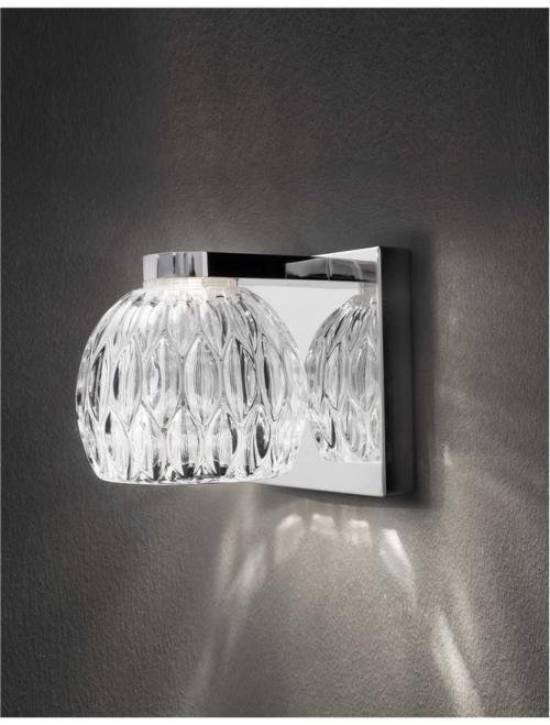 NOVA LUCE - Аплик  LARA  8540402   LED COB 5 W, 480Lm 3000K IP20 D: 12 W: 12 H: 12 cm