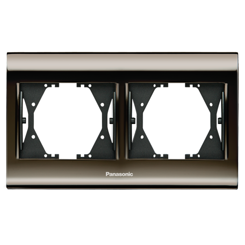 PANASONIC - Двойна рамка Черен хром WBTF0802-5UN