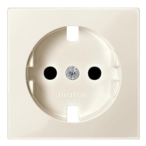 SCHNEIDER ELECTRIC - MTN2330-0344 Лицев панел за контакт шуко с Д.З. крема System M