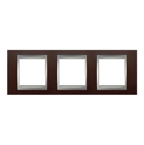 SCHNEIDER ELECTRIC - MGU66.006.0M4 декоративна рамка тройна табако/алуминий Unica Top