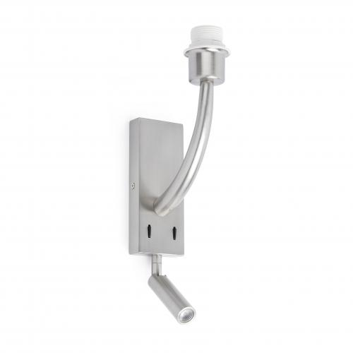 FARO - REM Matt nickel structure wall lamp with LED reader Ref.29682