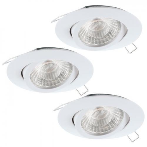 EGLO - LED к-т 3 х луни за вгр.3хGU10 LED 3степ.3x5W 3x400lm 3000K Ø80 алум.отл.бял подв. 'TEDO' 95357