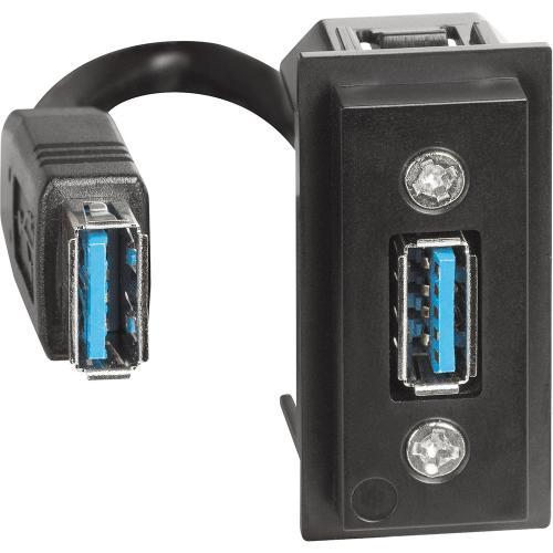 BTICINO - Розетка USB предварително свързана тип A 1 мод. Living Now Bticino K4285P