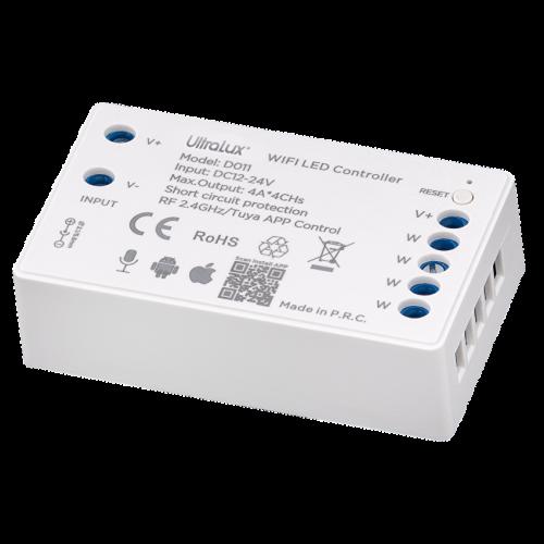 ULTRALUX - SSWFSC Smart 2.4G RF WIFI димер за едноцветна LED лента 4x4A, 192W (12V), 12-24V DC