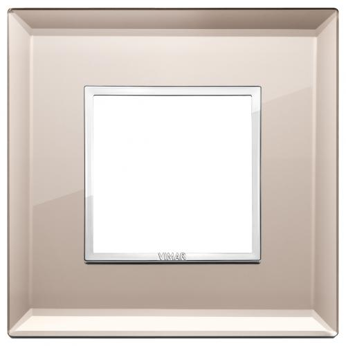 VIMAR - 21642.75 - Двумодулна рамка crystal bronze mirror