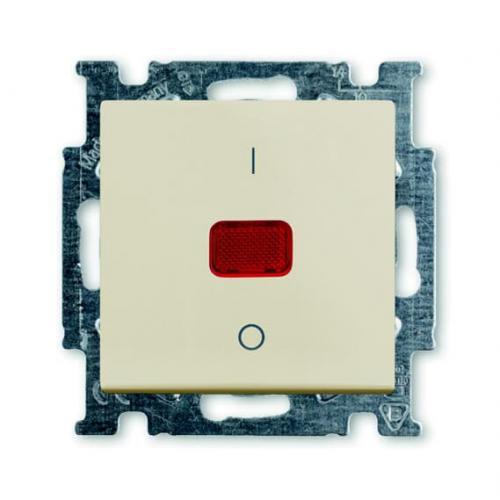 ABB - Бойлерен ключ 20A с индикация и 1/0 надпис ABB Basic55 крем 2CKA001020A0090