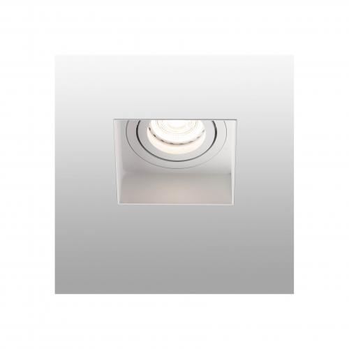 FARO - HYDE White orientable square recessed lamp without frame Ref.40112