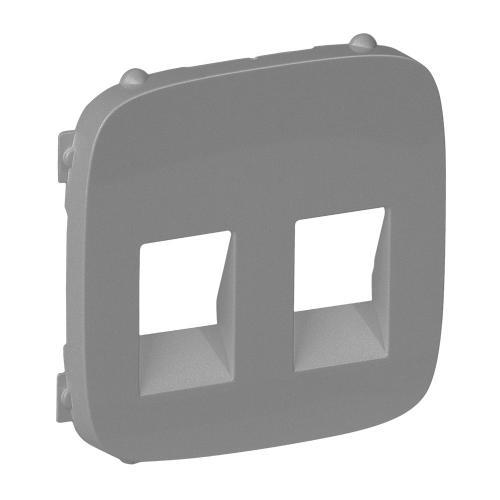 LEGRAND - 755377 Лицев панел за двойна розетка за тонколони Valena Allure алуминий