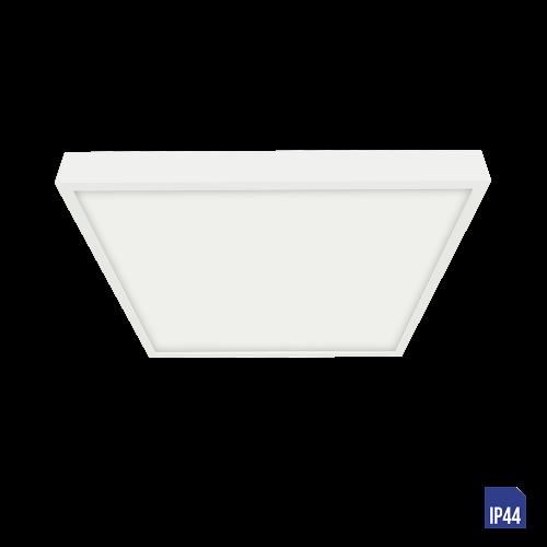 LUXERA - LED панел 6W квадрат влагозащитен IP44 външен монтаж LENYS  49039 Бял